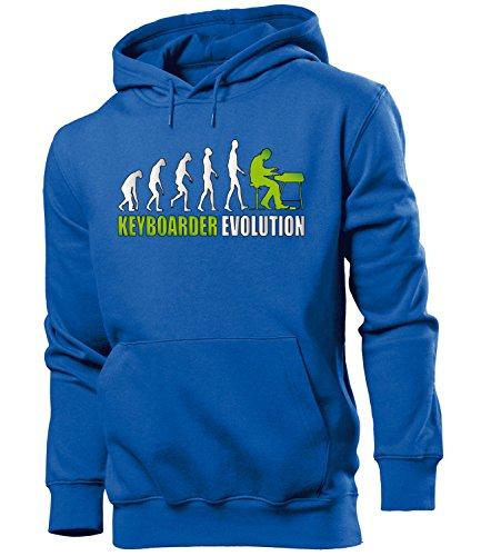 KEYBOARDER EVOLUTION 4593 Herren Hoodie (HKP-B-Weiss-Grün) Gr. XXL