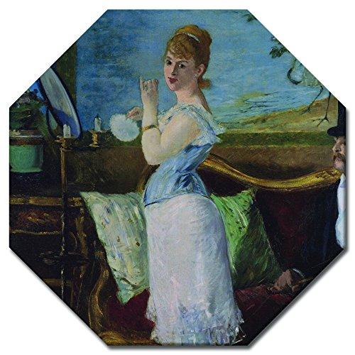 Wandbild Édouard Manet Nana - 60x60 cm Achteck - Alte Meister Berühmte Gemälde Leinwandbild Kunstdruck Bild auf Leinwand