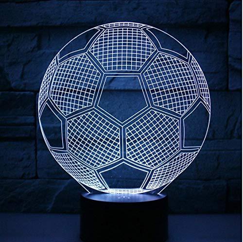 Fußball Illusion Nachtlicht Lampe Neuheit 7 Farben LED Tischlampe Weihnachten Kinder Nacht Dekoration Beleuchtung