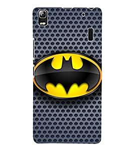 Fuson 3D Printed Bat Man Designer Back Case Cover for Lenovo A7000 - D807