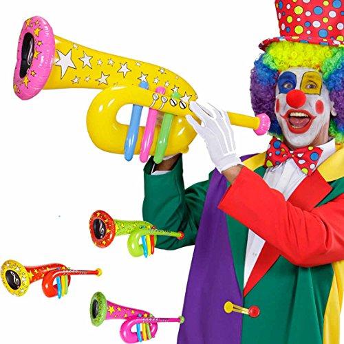 Kostüm Clown Aufblasbare - Aufblasbare Tuba Accessoire Clown Kostüm gelb Musikinstrument zum Aufblasen Zirkusparty Zubehör Instrumentenimitat Tuba Imitat