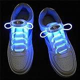 JIALUN- LED Warmes Weiß RGB 1 Paar 80 cm Glow Schnürsenkel LED Sport Schnürsenkel Glow Stick Blinkt Neon Leuchtend Schnürsenkel ( Color : Blue )