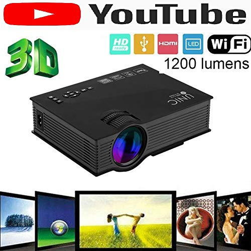 Samyu Advanced Version YouTube Play WiFi Unic UC46 Full HD Led Home Theatre Multipurpose Projector with WiFi HDMI AV Vga USB Inbuilt Speaker