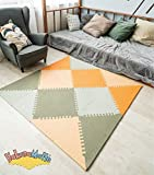Hakuna Matte Stylish Foam Play Mat for Babies in a Storage Bag | +20% Thicker & Softer Puzzle Mat for Crawling and Playing | 100% Safe, Odorless, Formamide-Free, EN-71 Certified