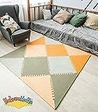 Hakuna Matte Stylische Puzzlematte für Babys und Kinder | +20% Dicker Spielmatte in Einer Aufbewahrungstasche | Schadstofffrei, TÜV Formamid geprüft | 48-teilig, 1,2x1,2m Idee