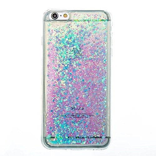 Coque iPhone 7, flottant Liquidee flottant de luxe Bling Glitter Sparkle Case Cover pour iPhone 7 4.7inch 2# 6 Plus
