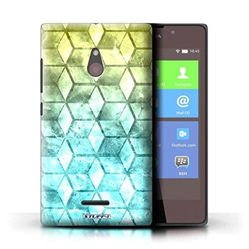 Kobalt® Imprimé Etui / Coque pour Nokia XL / Vert/Bleu conception / Série Cubes colorés Jaun/Bleu