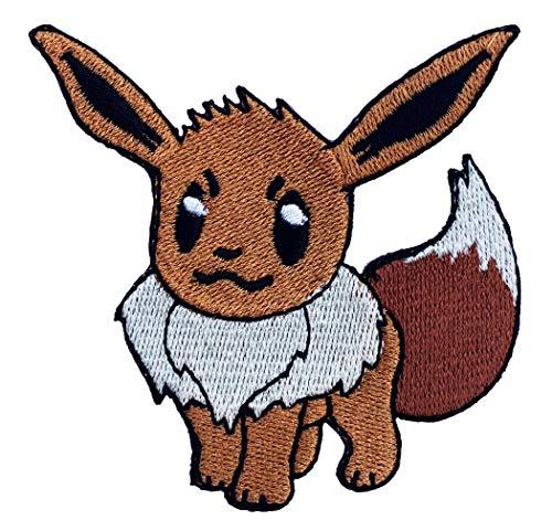 Eevee Pokemon Patch Embroidered Iron on Badge Aufnäher Kostüm Fancy Kleid Pokémon Cosplay