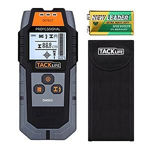 tacklife dms03multi-wall detector magnética de retroiluminación LCD escáner para tamaño grande/alambre de metal no magnético, ca, buscador de madera con de profundidad detección