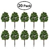 WINOMO 20 Stücke Modell Bäume Modellbahn Landschaften Landschaft Zug Eisenbahnen Bäume Skala 1: 100 Dunkelgrün 9 CM