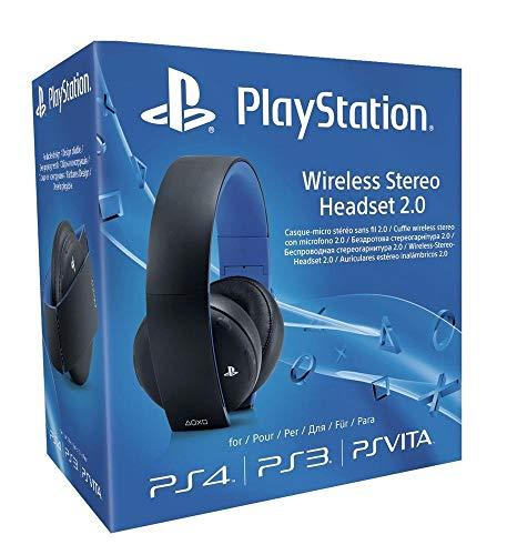 Sony - Cuffie wireless stereo con microfono 2.0 per PS4/PS3/PS Vita, Nero