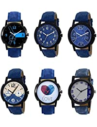 NEUTRON New Collection Love Black Blue And Brown Color 6 Watch Combo (B7-B8-B9-B10-B11-B40) For Boys And Men