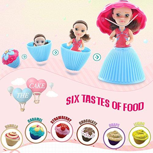 Goolsky Historieta de la manera Lovely Sorpresa Cupcake Princess Doll Mini Hermosa muñeca linda de la torta Juguetes de regalo de cumpleaños para niñas
