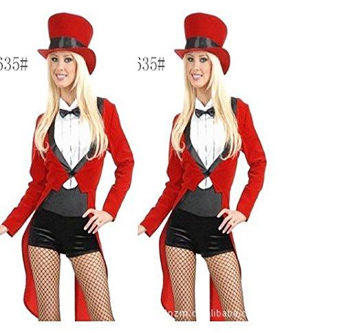Gorgeous Halloween-Kostüme tuxedo Jazzbar Magier, der kostümiert - Weibliche Magier Kostüm