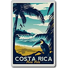 Costa Rica, Central America vintage travel fridge magnet - Calamita da frigo