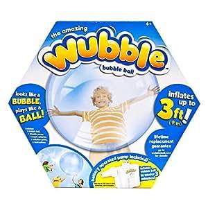 The Amazing WUBBLE BUBBLE Ball ~ BLUE ~ Looks like a bubble plays like a ball