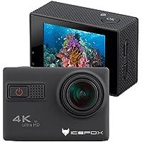'IceFox® Action Camera 4K, impermeabile fino a 30metri sott' acqua, WiFi telecomando fotocamera con obiettivi Sony da, registrazione Loop, Full HD 1080P, grandangolo 170°, HDMI uscita TV, RSC anti shake Micro USB, 2,0HD Display LCD, nero