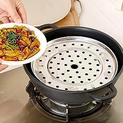 Ducomi® estante de acero inoxidable para cocinar al vapor–Placa Vaporera extraíble y part
