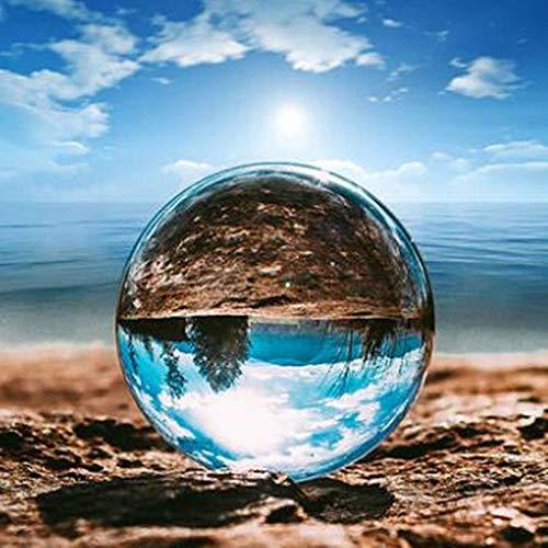 Prevently Kristallkugel Dekoration Klare Kristallkugel Globus für Fotografie,Glaskugel Glas Kugel Heilung Requisiten Geschenk Art Decor Kristall Prop für Durchsichtig Weihnachten Dekoration (50MM)