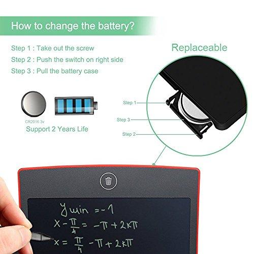 """Goxmgo 8,5 """"Digital Lcd Schreibblock Tablet Ewriter Elektronische Zeichnung Grafiktablett Notepad Mit Stylus (Rot)"""