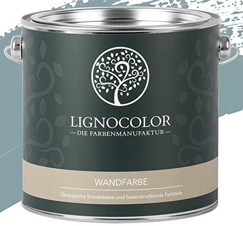 Lignocolor Wandfarbe Innenfarbe Deckenfarbe Kreidefarbe edelmatt 2,5 L (Indian Ocean)