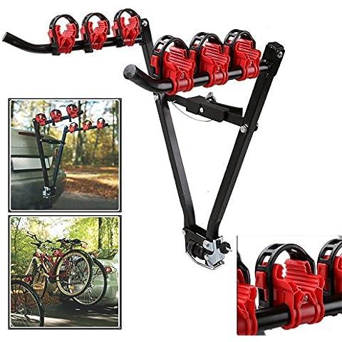 Iglobalbuy Carrier Ciclo 3 bici de la bicicleta del coche de montaje en bastidor trasero conector universal de la ventana trasera del salón