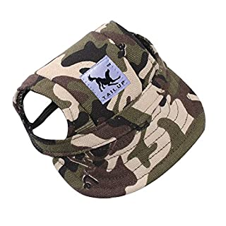 Pet Hat,AmaMary Cute Small Medium Pet Summer Canvas Cap Dog Baseball Visor Hat Puppy Outdoor Sunbonnet Cap (M, B)