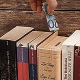Casa Vivente – Spardose in Bibel Buch Optik aus Holz mit Gravur zur Taufe – Taube – Personalisiert mit Namen und Datum – Sparbüchse aus Ahornholz – Sparschwein für Jungen und Mädchen als Taufgeschenke - 4