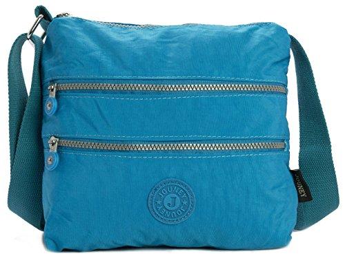 Big Handbag Shop - Borsa a tracolla unisex (Blu cielo)