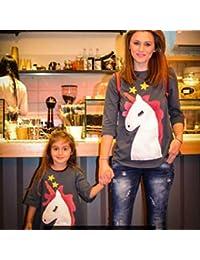 e882166ad1 Dooret Transpirable Madre Hija Camiseta Cómoda Trajes de Familia A Juego  Madre Hija Verano Tops Ropa