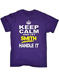 123t Men's KEEP CALM AND LET SMITH HANDLE IT Men's T-SHIRT