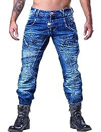 Kosmo lupo - Jean fashion homme Jean KM070 bleu - Bleu