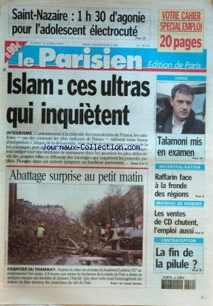 PARISIEN EDITION DE PARIS (LE) [No 18539] du 19/04/2004