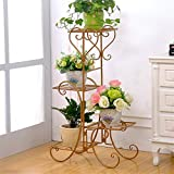 Iron Art Flower Stand coperta a più strati Pot Rack Balcony Green Shelf Living Room Shelf Meat Pot (Colore : C)