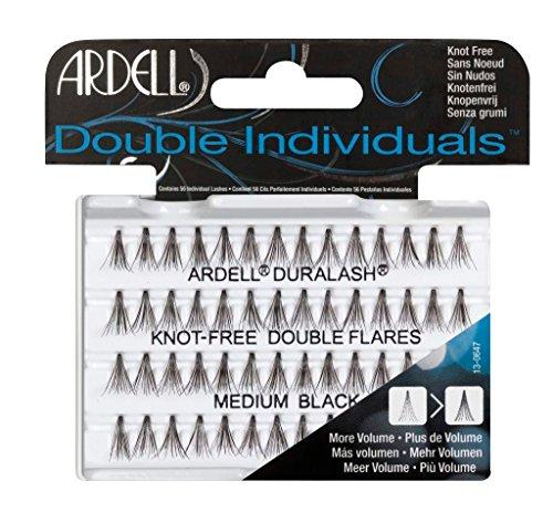 falsche wimpern einzeln Ardell Double Individuals Medium, das Original (Knot Free) black, 1er Pack (1 x 56 Stück)