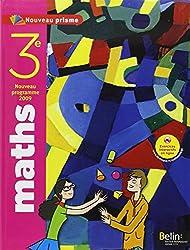 Maths 3e Nouveau prisme : Programme 2009