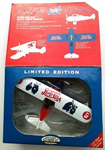PEPSI Limited Edition KEYSTONE COPS #00507 Die-Cast Metal 1932 STEARMAN AIRPLANE Large Coin Bank (1996) by Pepsi