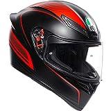 AGV K1 Warm Up Rojo Casco De Moto De Cara Completa Tamano L