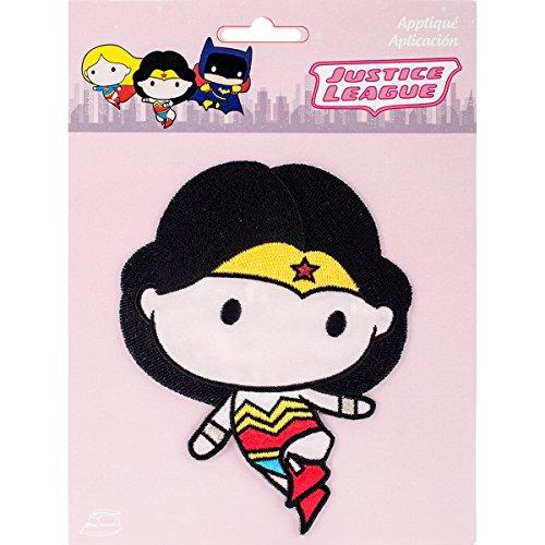 Simplicity Wonder Woman Caricatura Iron-on Apliques, poliéster,, 18.67X 14.73x 0,2cm