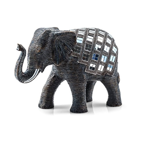 PAJOMA 20690 Mosaic Elephant Figurine, Resin, Height 18 cm