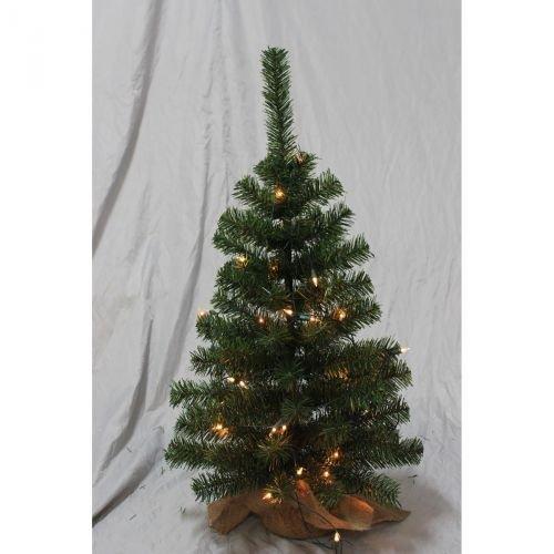 Weihnachtsbaum Tanne beleuchtet 60 cm 35 Lampen Christbaum Tannenbaum Dekoration