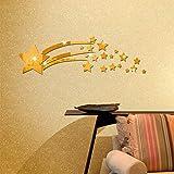Adesivo Murale Specchio Lucido Stella Cometa Personalità Adesivo Da Parete Soggiorno Camera Da Letto Decorazione Della Parete
