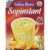 Gallina Blanca Sopinstant Sopa de Pollo con Pasta - Pack de 3 x 14 g - Total: 42 g