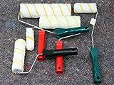 10 tlg. Maler Walzen Set 5 Rollen + 5 Farb Roller Bügel für Wandfarben und Dispersionen