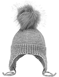 Women Size M Yeahibaby 2pcs Parent-Child Winter Warm Hat Grey Kid Size S
