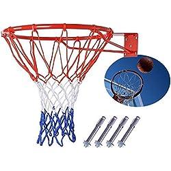 Panier de basket-ball Net Bague à fixation murale d'extérieur à suspendre 45,7cm 45cm