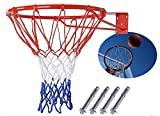 Canasta Aro de baloncesto anillo montado en la pared exterior cesta colgante 45cm 45cm