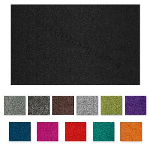 SIMON PIKE echter Filz in schwarz aus 100% reinem Wollfilz, Filzplatte zum nähen 34 cm x 23 cm (2mm dick) aus Filzwolle ideal als Bastelfilz oder Taschenfilz