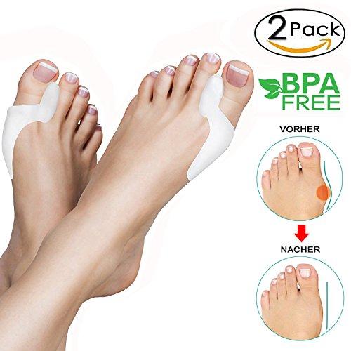 Alluce valgo correttore, 2x gel toe separatori, separatore dita piede, protezione alluce valgo, aiuta a ridurre il dolore al piede e l'alluce valgo, morbidi, adatto a quasi tutte le calzature
