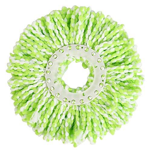 Fdit Spin Mop Head Refills Microfaser Runde Spin Mop Kopf Ersatz für Universal Spin Mop System Perfekt für den Heimkommerziellen Einsatz (grün) (Refill Head)